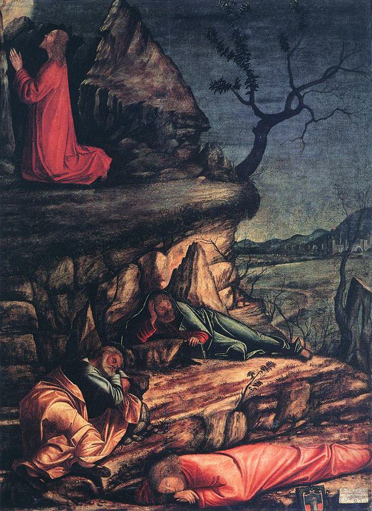 Agony in the Garden   Vittore Carpaccio   oil painting