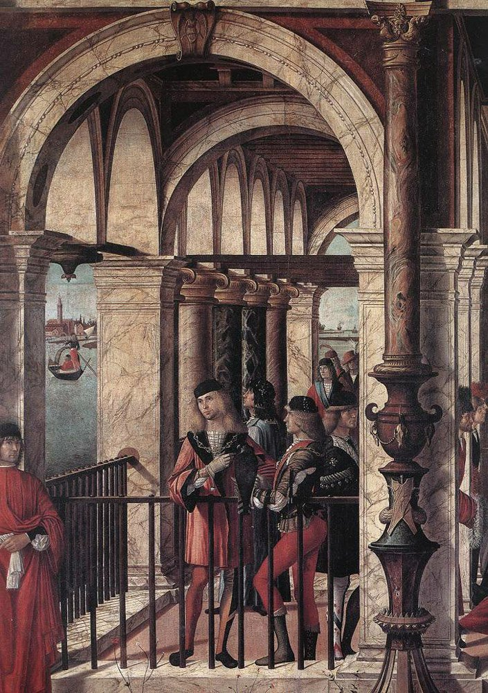 Arrival of the English Ambassadors detail   Vittore Carpaccio   oil painting