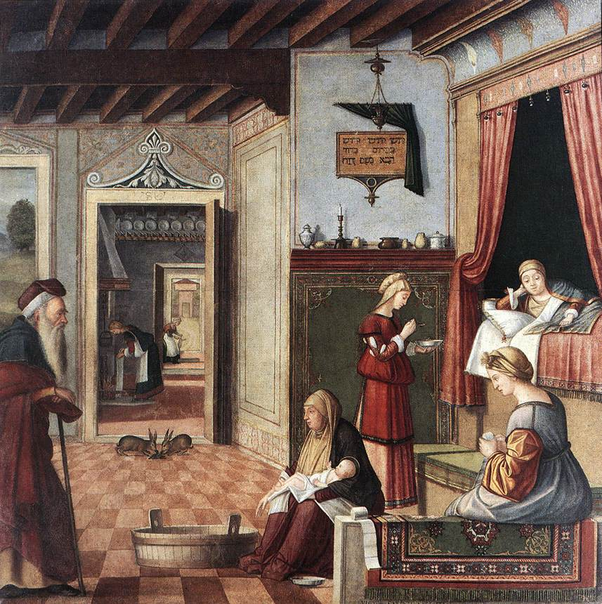 Birth of the Virgin | Vittore Carpaccio | oil painting