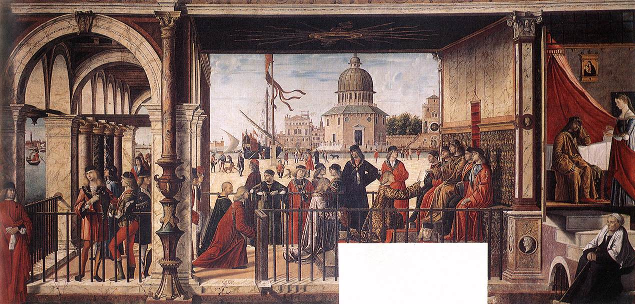 Carpaccio Arrival of the English Ambassadors | Vittore Carpaccio | oil painting