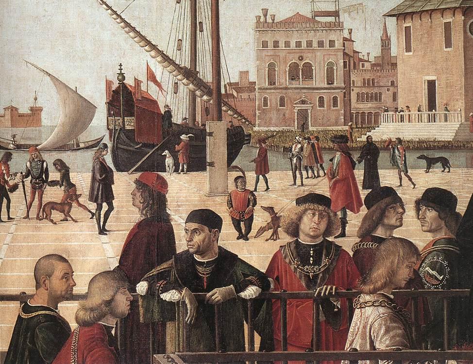 Carpaccio Arrival of the English Ambassadors detail2   Vittore Carpaccio   oil painting