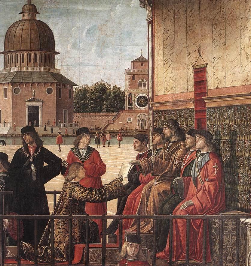Carpaccio Arrival of the English Ambassadors detail3   Vittore Carpaccio   oil painting