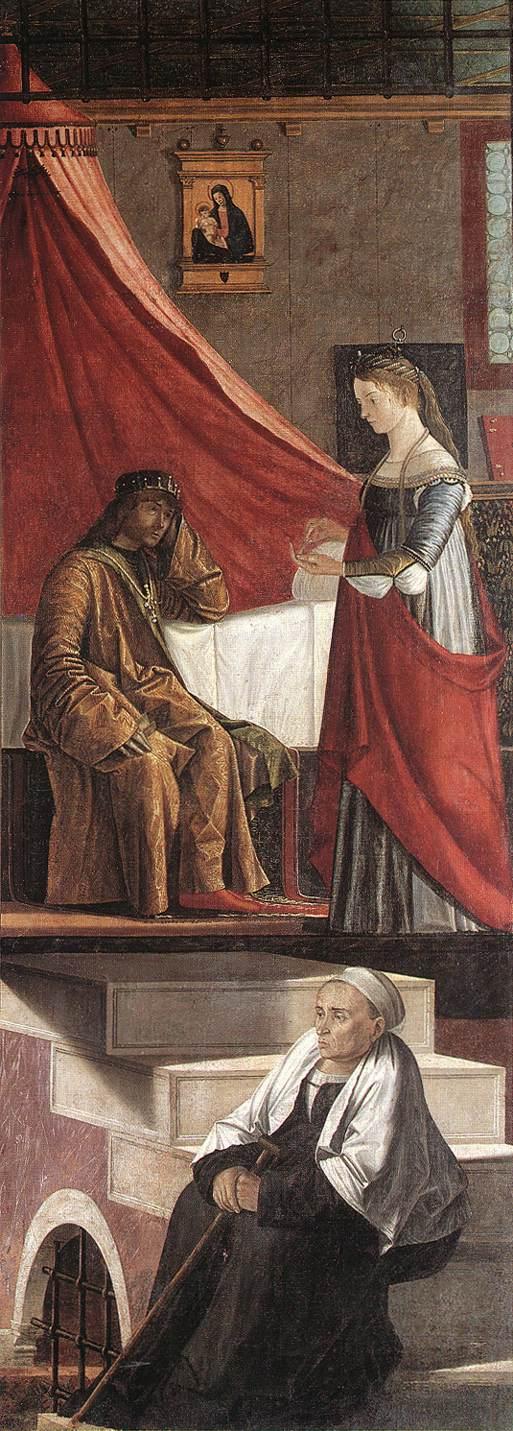 Carpaccio Arrival of the English Ambassadors detail4   Vittore Carpaccio   oil painting