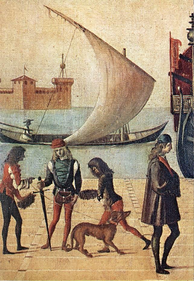 Carpaccio Arrival of the English Ambassadors detail5   Vittore Carpaccio   oil painting