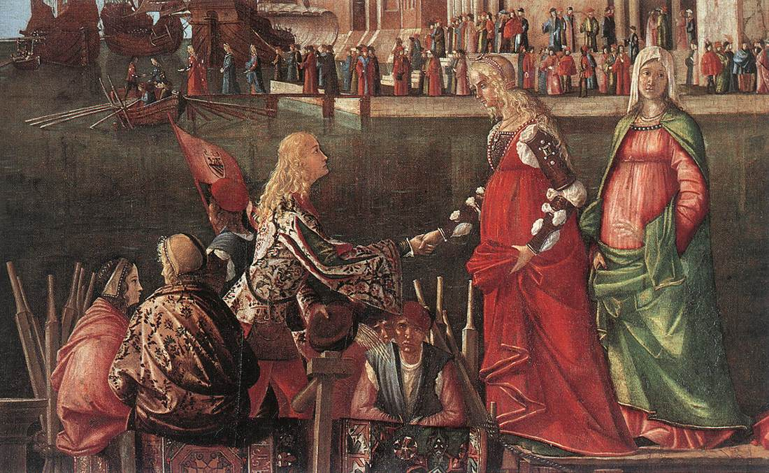 Carpaccio Meeting of the Betrothed Couple and the Departure   Vittore Carpaccio   oil painting