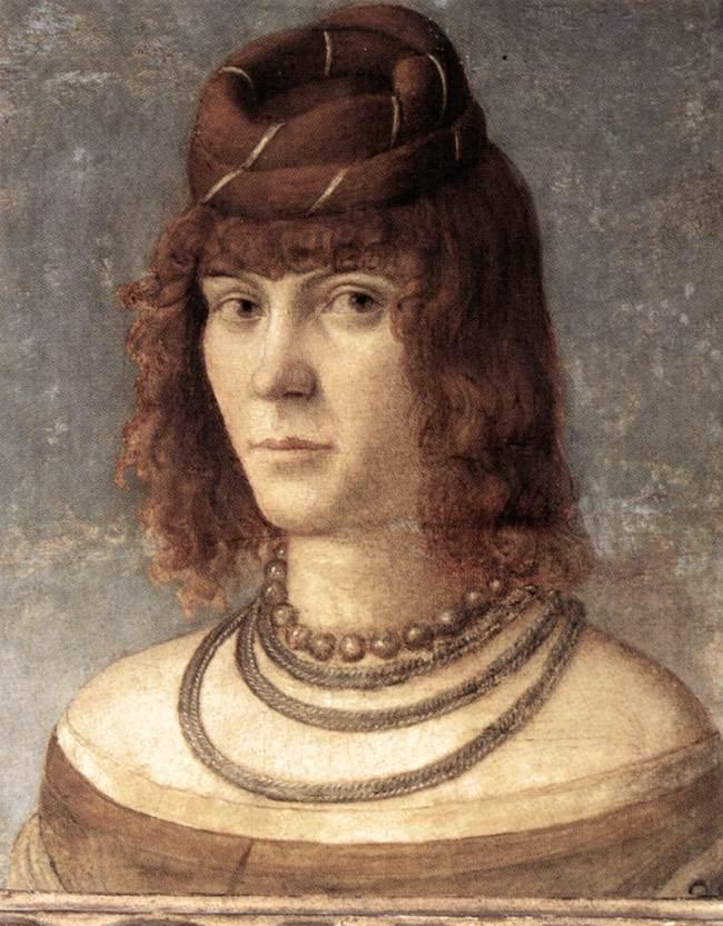 Carpaccio Portrait of a Woman   Vittore Carpaccio   oil painting