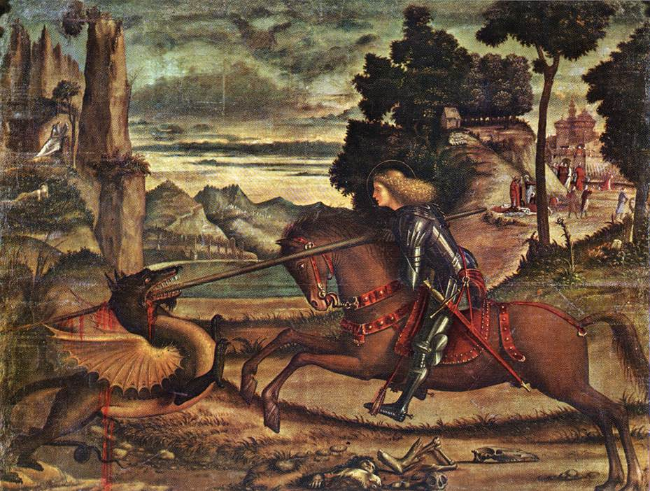 Carpaccio St George and the Dragon 1516 | Vittore Carpaccio | oil painting