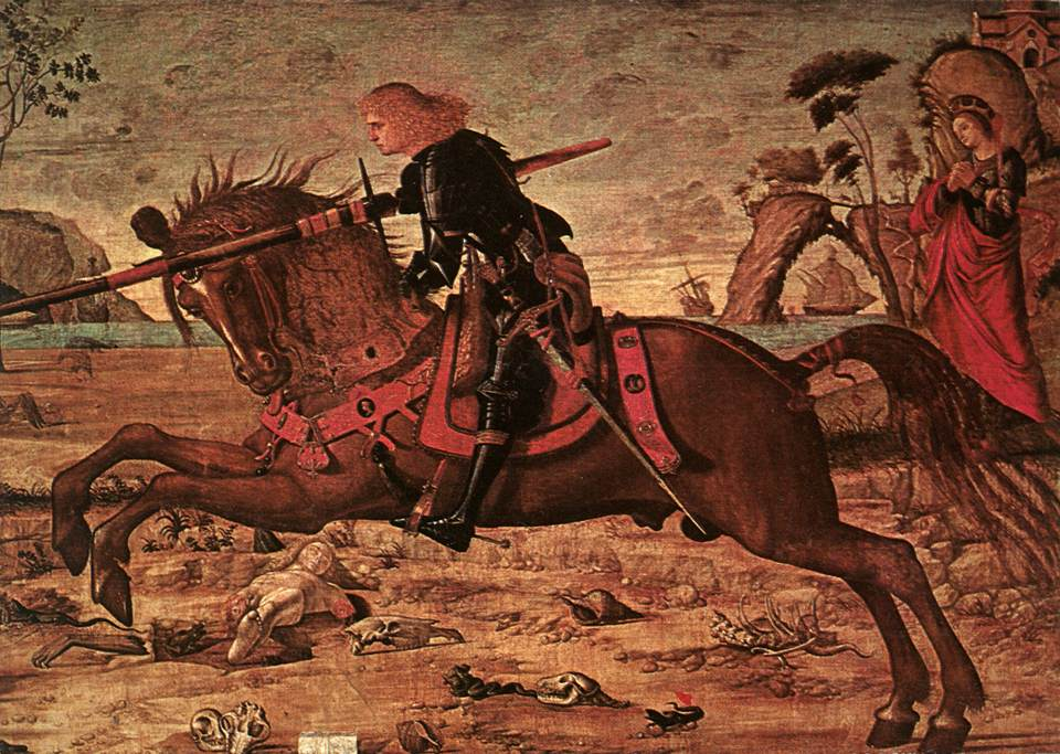 Carpaccio St George and the Dragon detail1 | Vittore Carpaccio | oil painting
