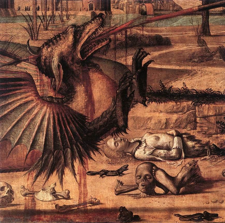 Carpaccio St George and the Dragon detail2   Vittore Carpaccio   oil painting