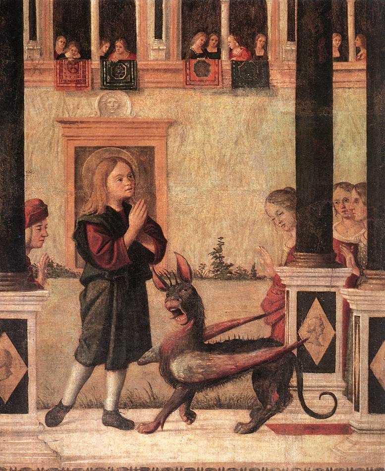 Carpaccio The Daughter of of Emperor Gordian is Exorcised by St Triphun | Vittore Carpaccio | oil painting