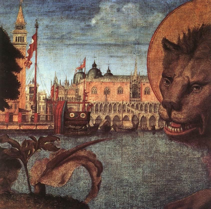 Carpaccio The Lion of St Mark detail1 | Vittore Carpaccio | oil painting