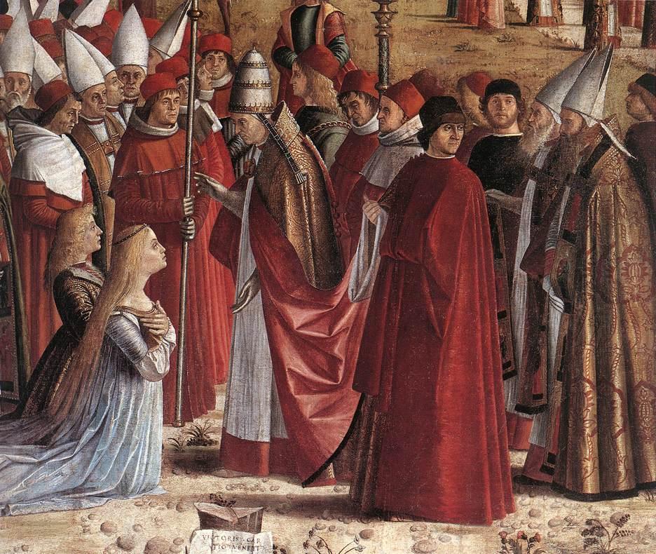 Carpaccio The Pilgrims Meet the Pope detail1 | Vittore Carpaccio | oil painting