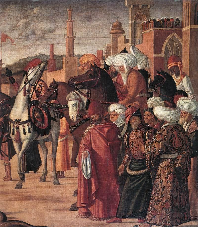 Carpaccio The Triumph of St George detail3 | Vittore Carpaccio | oil painting