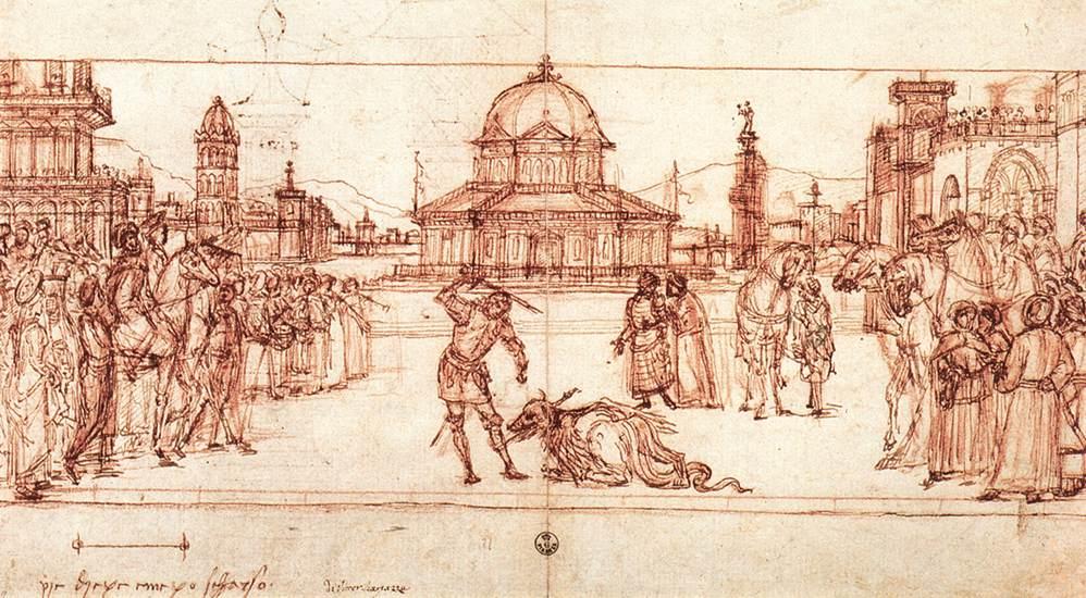 Carpaccio The Triumph of St George drawing | Vittore Carpaccio | oil painting