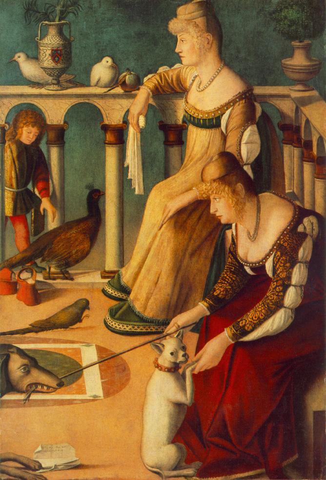Carpaccio Two Venetian Ladies | Vittore Carpaccio | oil painting