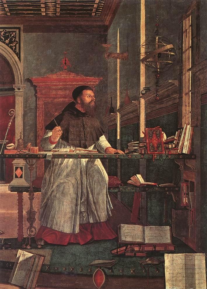 Carpaccio Vision of St Augustin detail1 | Vittore Carpaccio | oil painting