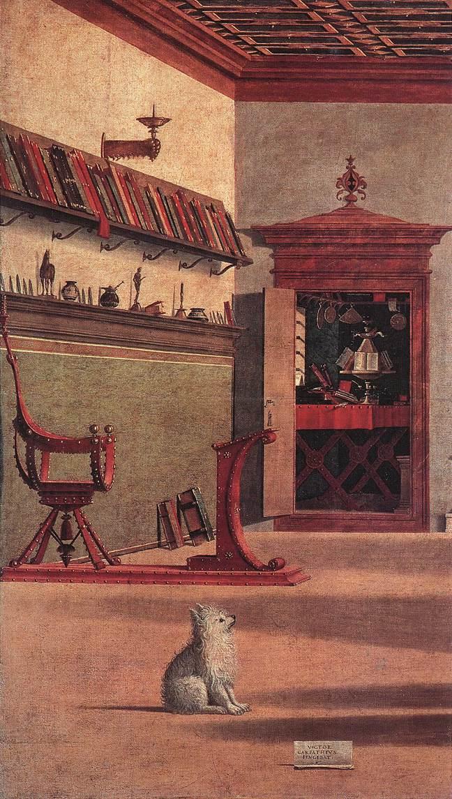 Carpaccio Vision of St Augustin detail2 | Vittore Carpaccio | oil painting