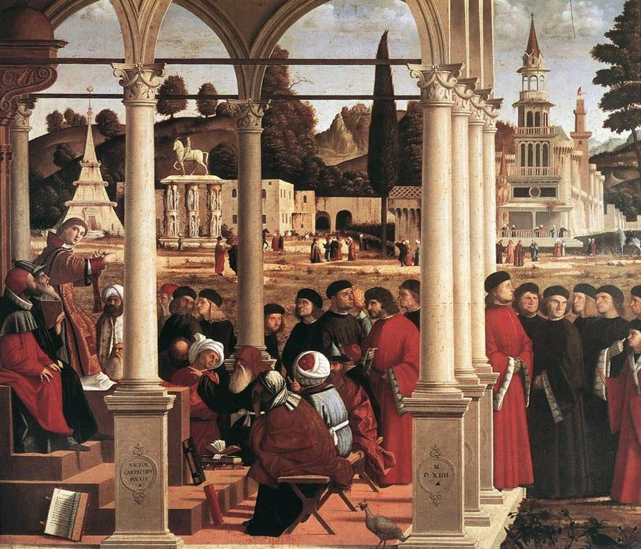 Disputation of St Stephen | Vittore Carpaccio | oil painting