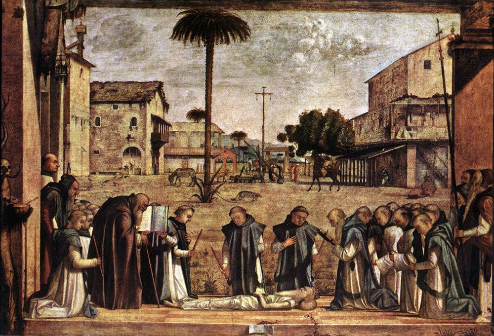 Funeral of St Jerome | Vittore Carpaccio | oil painting