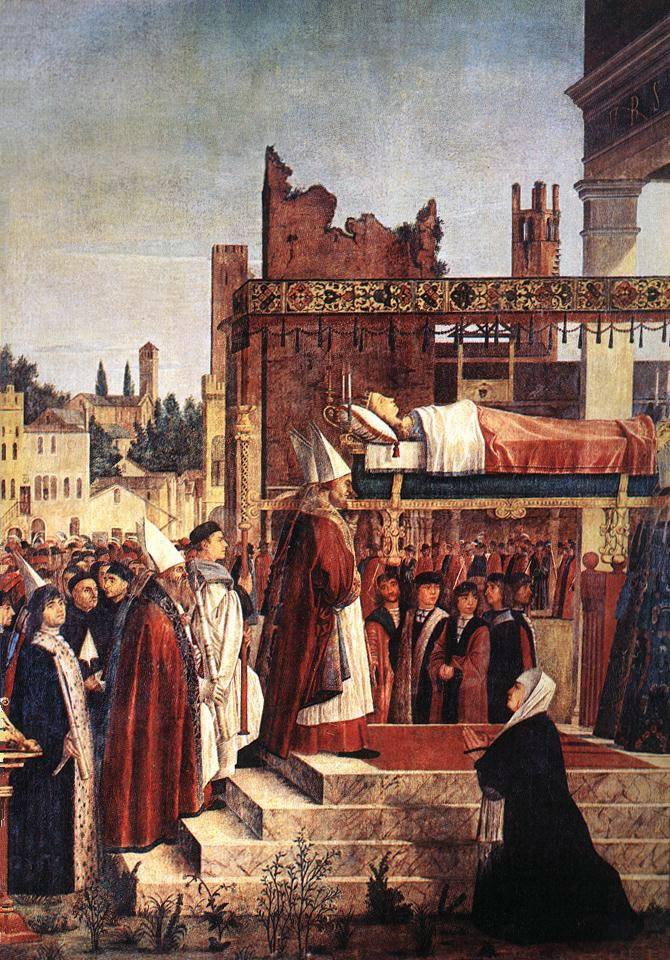 Martyrdom of the Pilgrims and the Funeral of St Ursula detail | Vittore Carpaccio | oil painting
