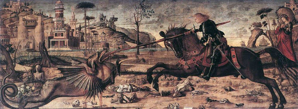 St George and the Dragon | Vittore Carpaccio | oil painting