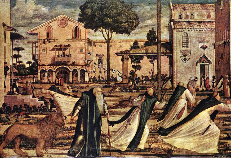 St Jerome and the Lion | Vittore Carpaccio | oil painting