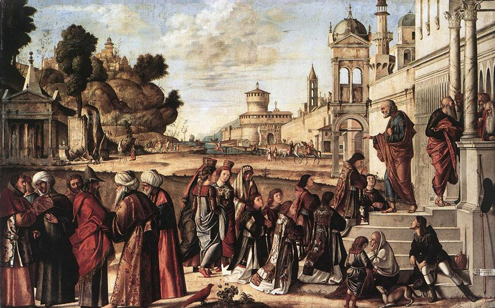 St Stephen is Consecrated Deacon | Vittore Carpaccio | oil painting