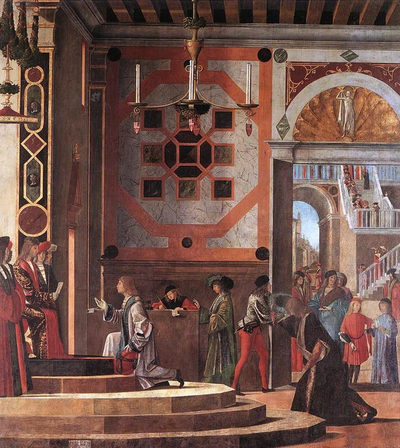 The Ambassadors Departure | Vittore Carpaccio | oil painting