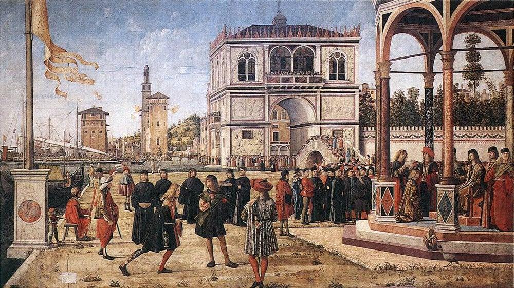 The Ambassadors Return to the English Court | Vittore Carpaccio | oil painting
