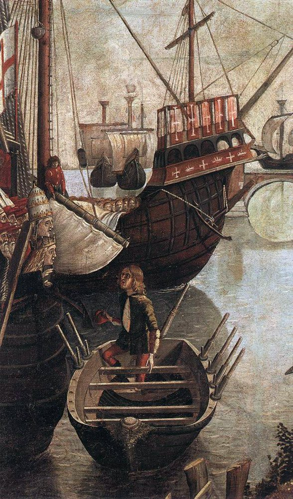 The Arrival of the Pilgrims in Cologne detail | Vittore Carpaccio | oil painting