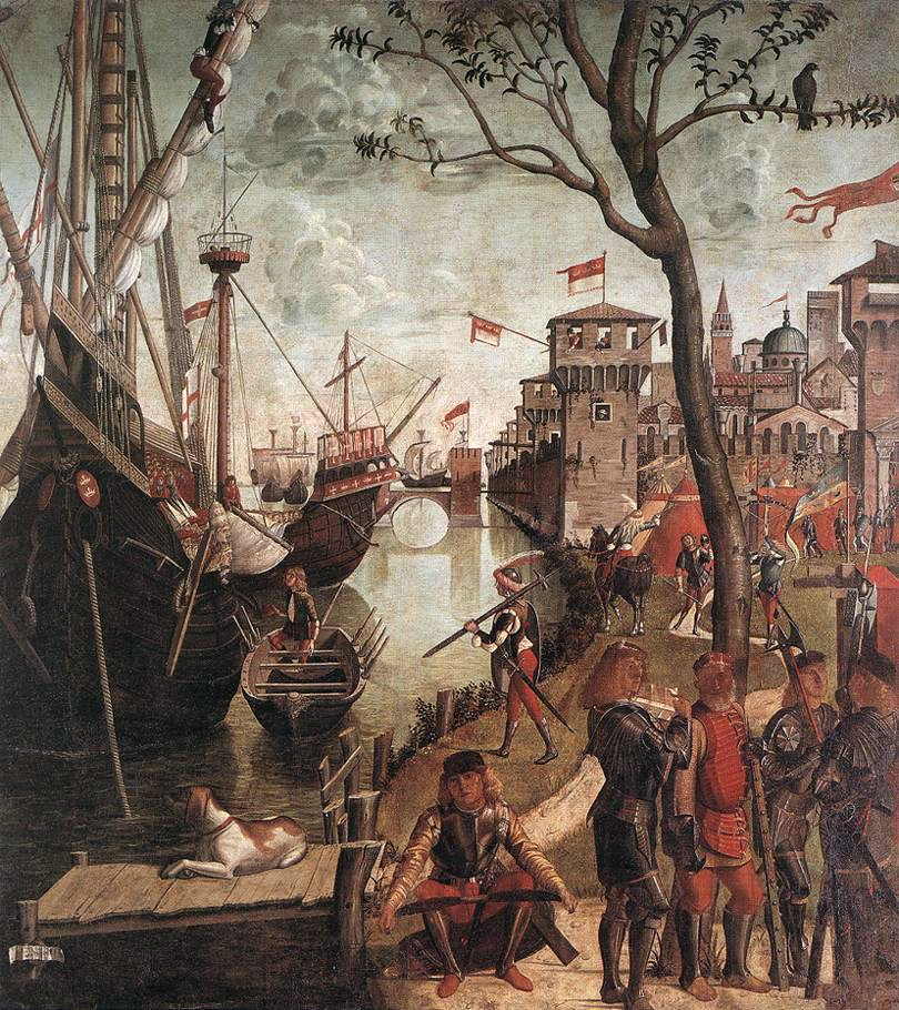 The Arrival of the Pilgrims in Cologne | Vittore Carpaccio | oil painting
