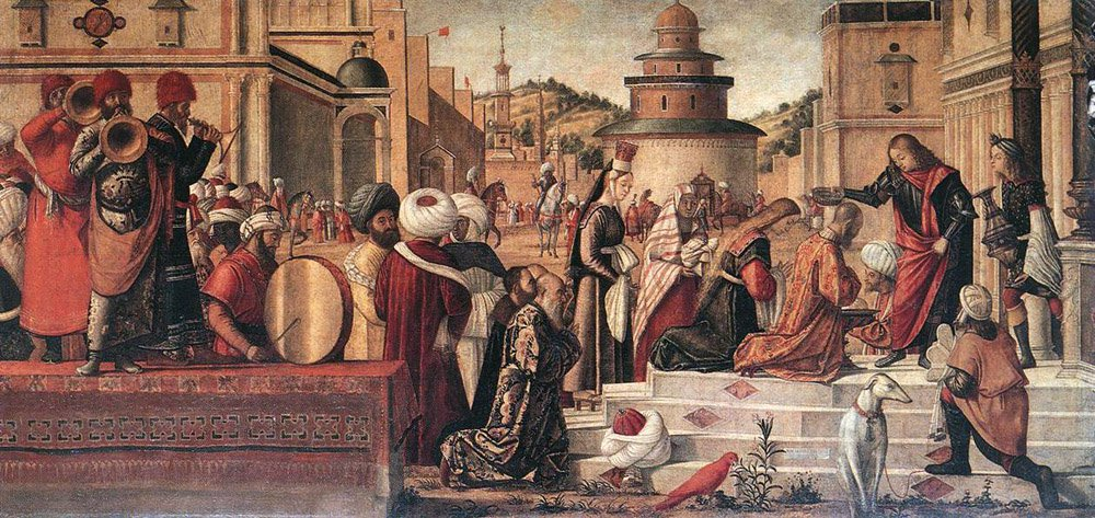 The Baptism of the Selenites | Vittore Carpaccio | oil painting