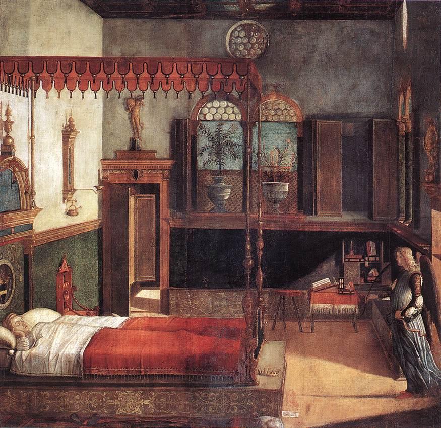 The Dream of St Ursula | Vittore Carpaccio | oil painting