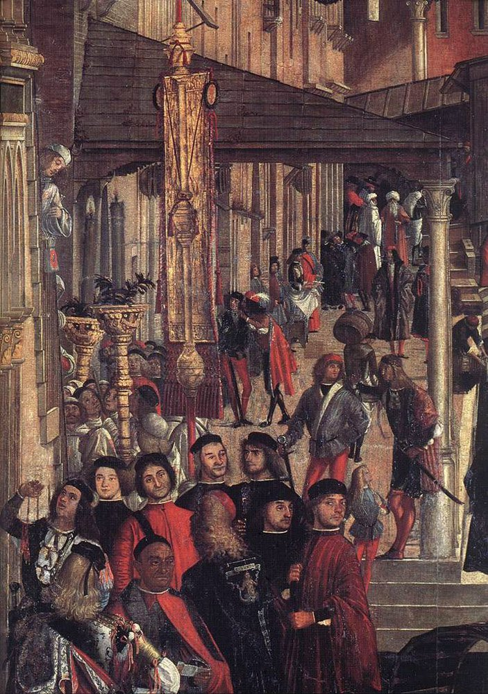 The Healing of the Madman detail | Vittore Carpaccio | oil painting