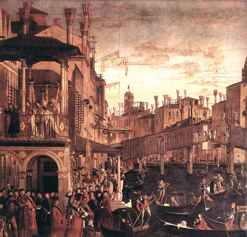 The Healing of the Madman | Vittore Carpaccio | oil painting