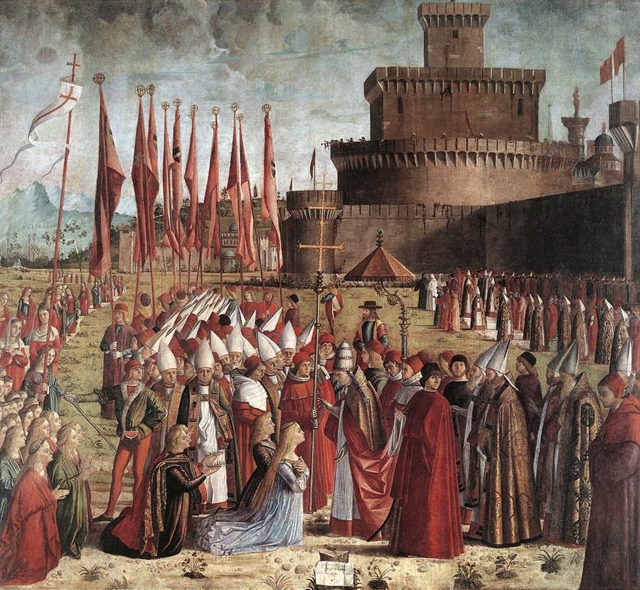 The Pilgrims Meet the Pope | Vittore Carpaccio | oil painting