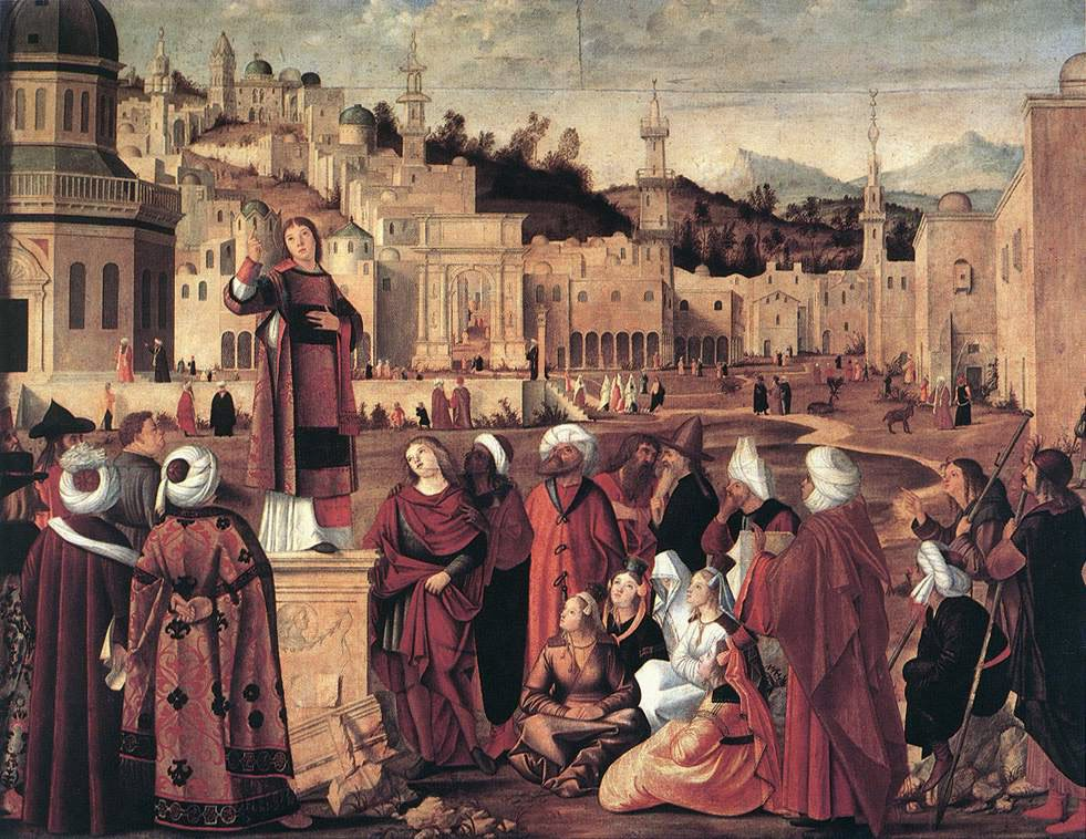 The Sermon of St Stephen | Vittore Carpaccio | oil painting