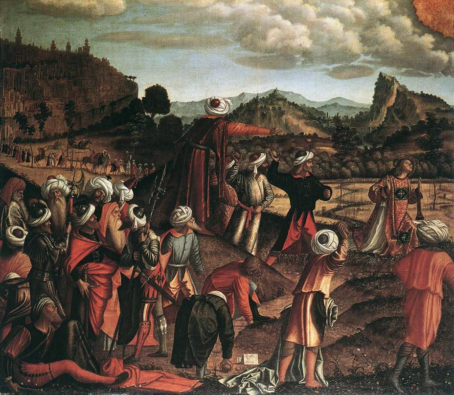 The Stoning of St Stephen | Vittore Carpaccio | oil painting