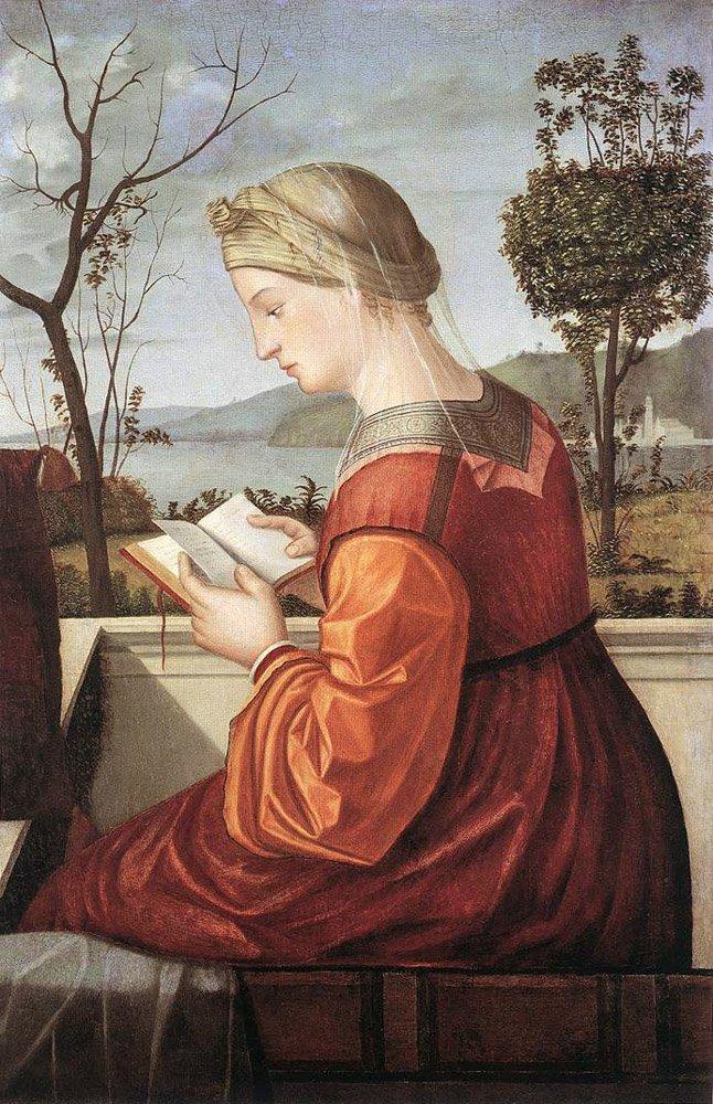 The Virgin Reading | Vittore Carpaccio | oil painting