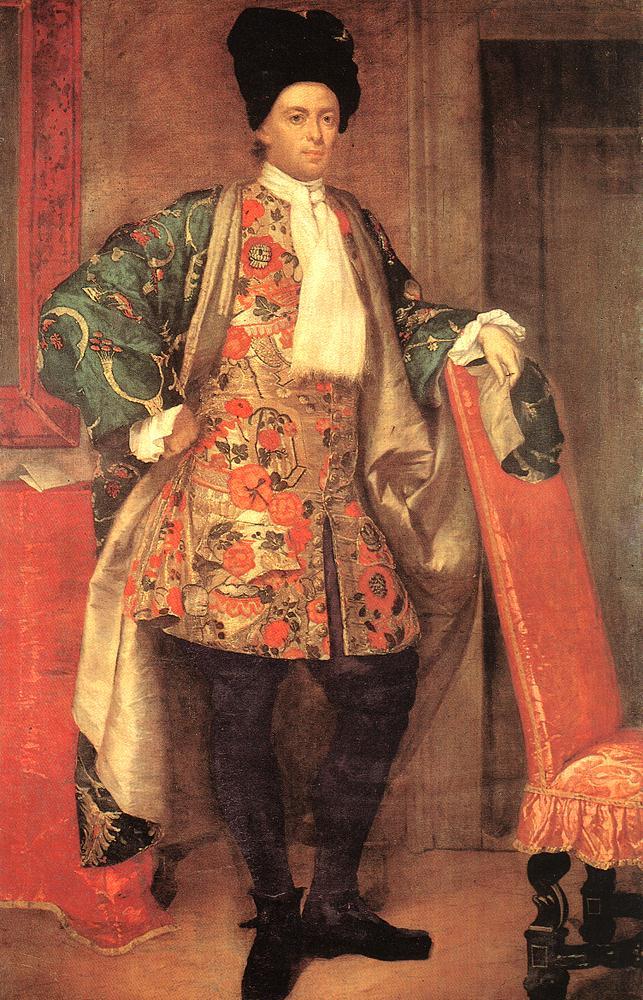 Portrait Of Count Giovnni Battista Vailetti 1710 | Vittore Ghislandi | oil painting