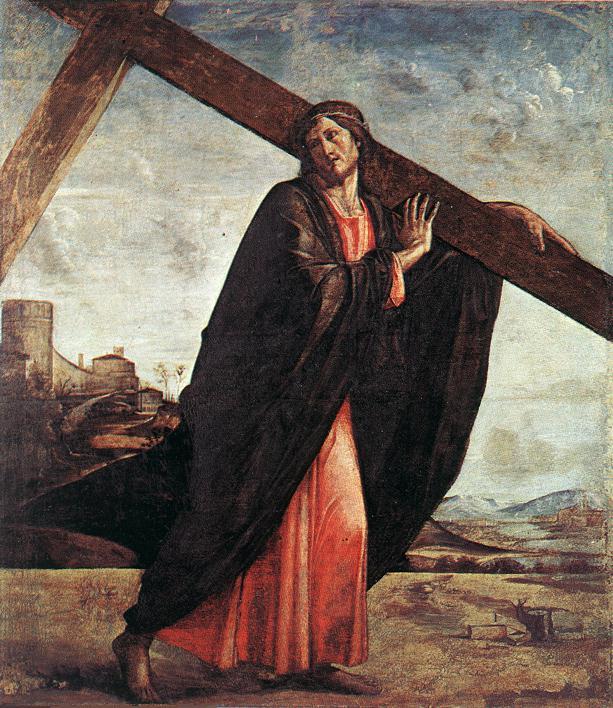 Christ Enthroned Detail 1450 | Vivarini | oil painting