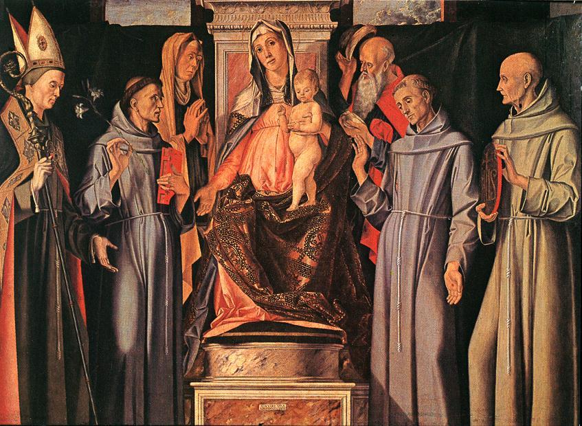 Holy Family Sacra Conversazione 1480 | Vivarini | oil painting