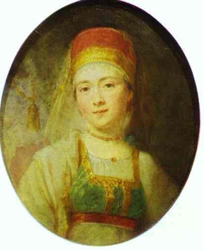 Christina The Peasant Woman From Torzhok 1795 | Vladimir Borovikovsky | oil painting