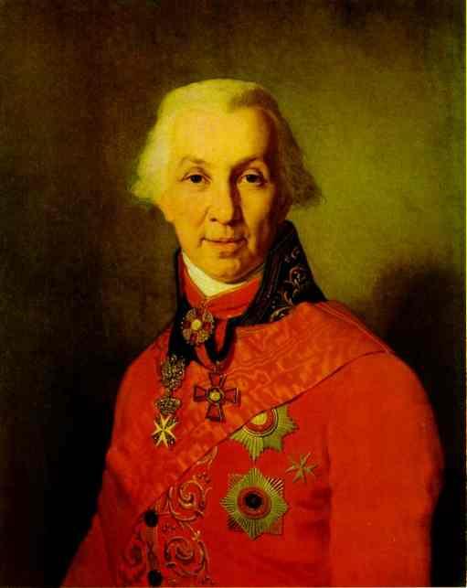 Portrait Of G R Derzhavin 1811 | Vladimir Borovikovsky | oil painting