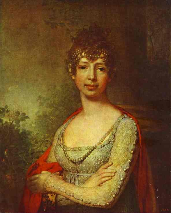 Portrait Of Grand Duchess Maria Pavlovna 1800s | Vladimir Borovikovsky | oil painting