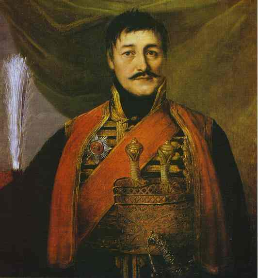 Portrait Of Karadjordge 1816 | Vladimir Borovikovsky | oil painting