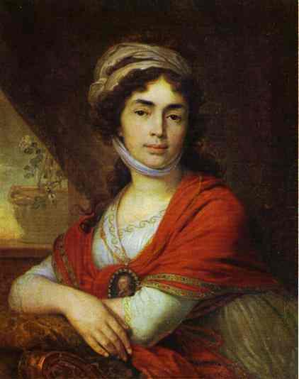 Portrait Of M D Dunina 1799 | Vladimir Borovikovsky | oil painting