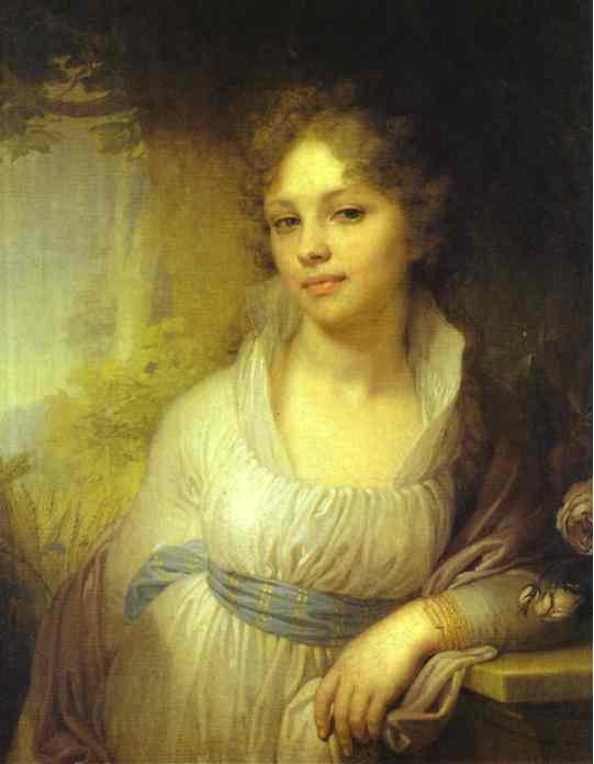 Portrait Of M I Lopukhina 1797 | Vladimir Borovikovsky | oil painting