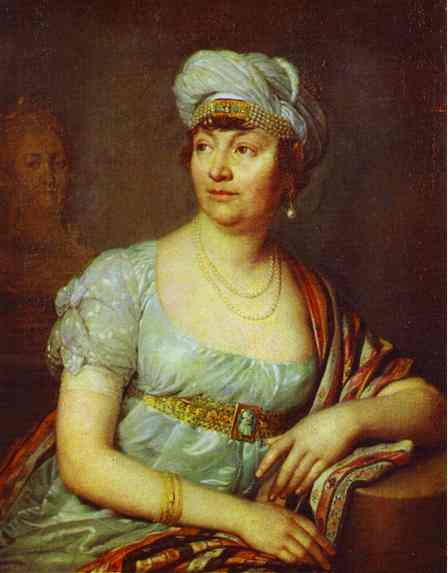 Portrait Of M Me De Stael 1812 | Vladimir Borovikovsky | oil painting