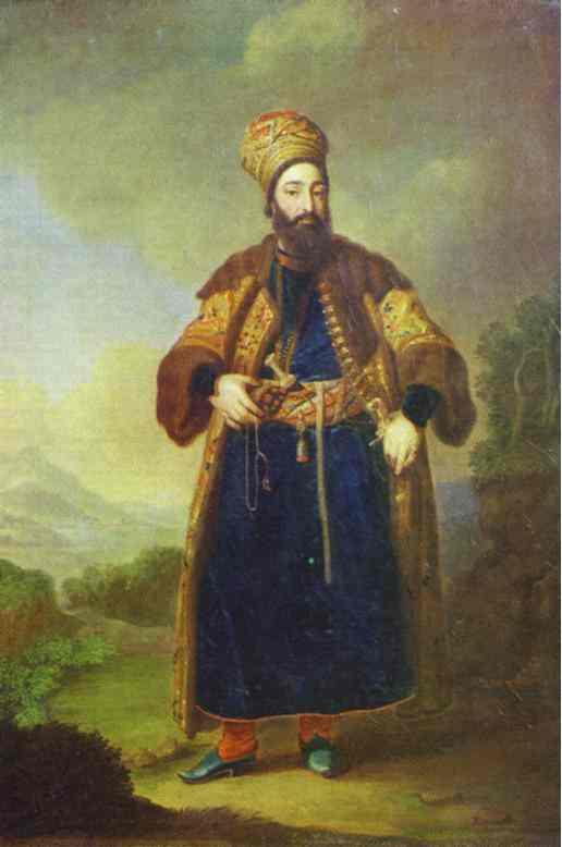 Portrait Of Murtaza Kuli Khan Study 1796 | Vladimir Borovikovsky | oil painting